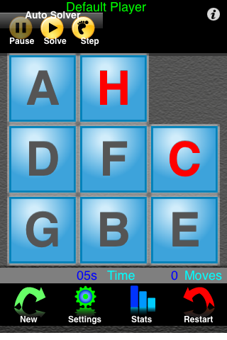 Screenshot Tiles A-Z Sliding Tile Puzzle with Letters
