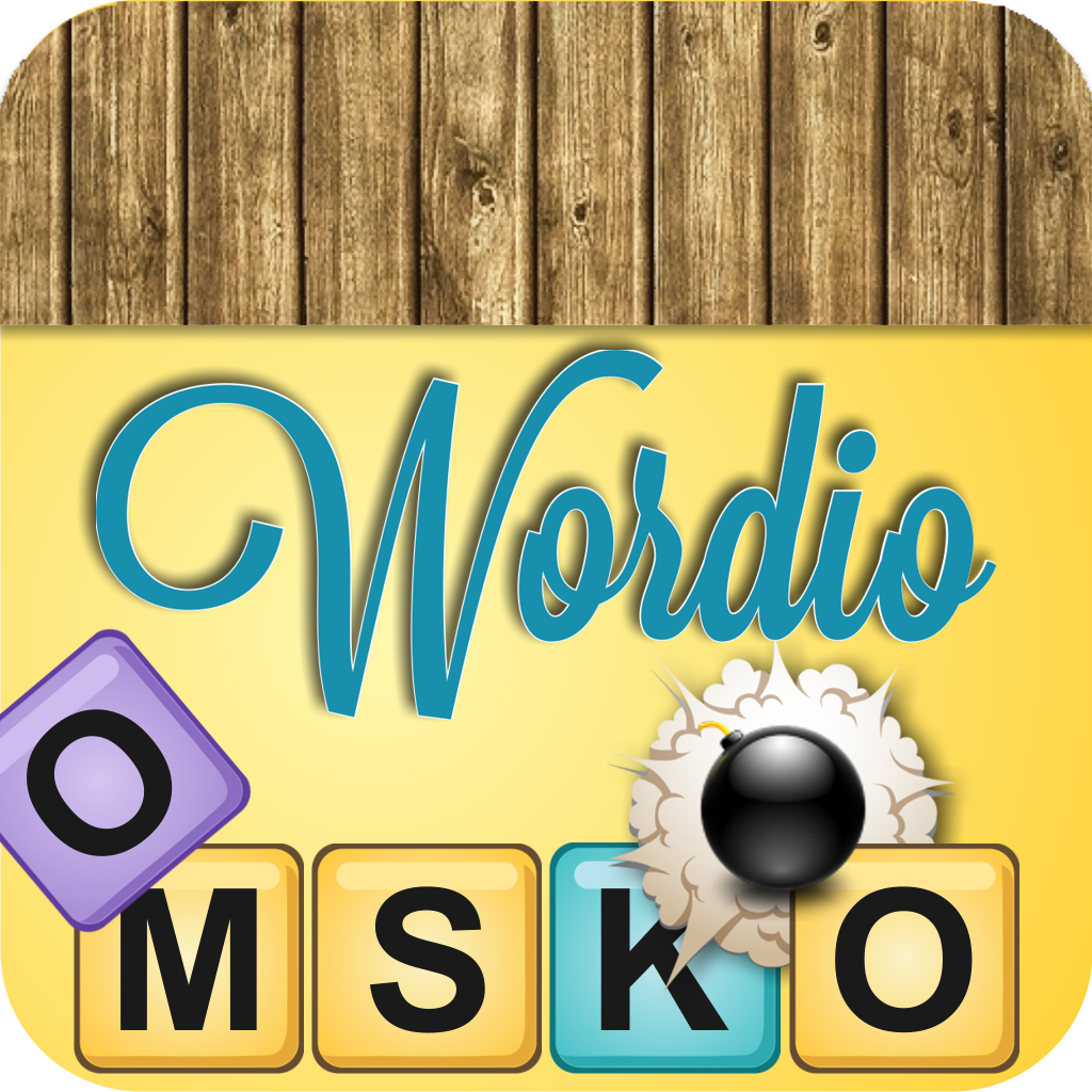 Wordio - fast action word puzzler with falling letters instead of a timer